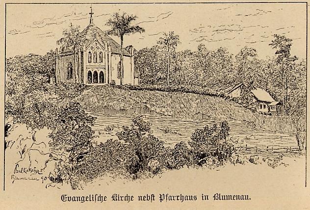 Ev. Kirche m Pfarrhaus