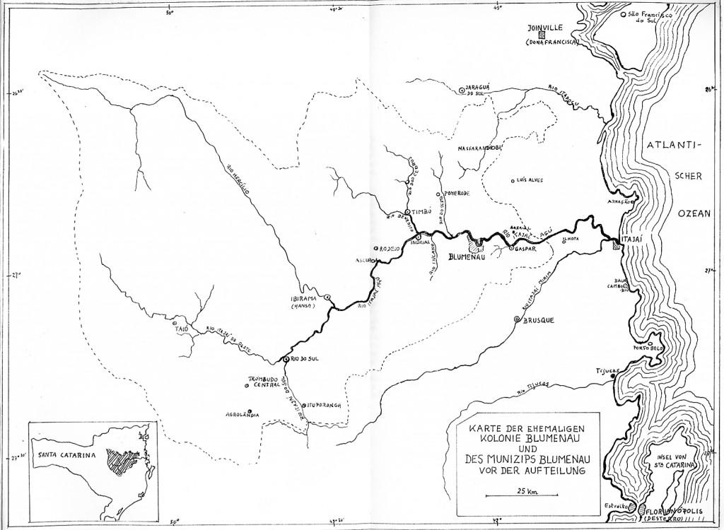 Karte d. Kolonie in SC